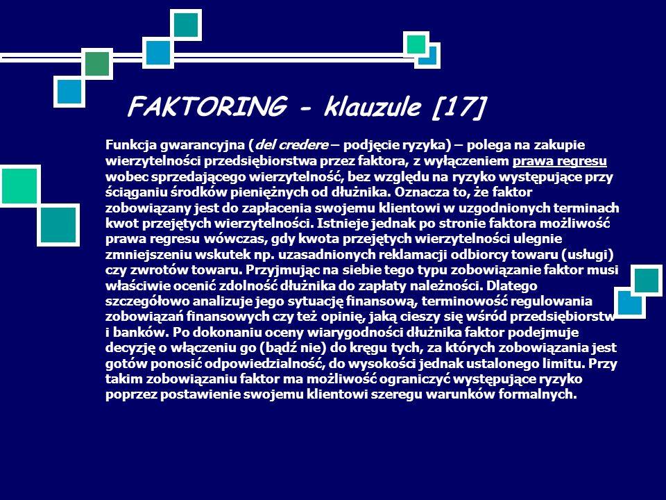 FAKTORING - klauzule [17]
